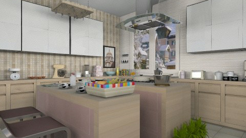 Cream Kitchen - Modern - Kitchen  - by Luisy