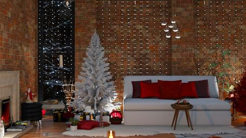 Christmas Living room  - Rustic - Living room  - by MB2006