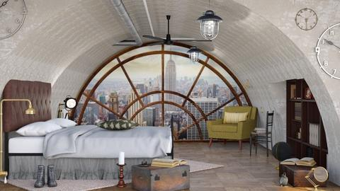 Steampunk Bedroom - Bedroom - by ArtHousedeco