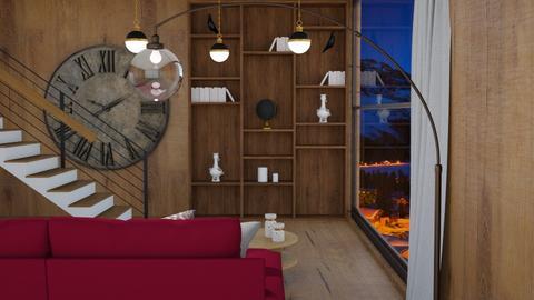 Wood Loving room - Living room  - by rechnaya
