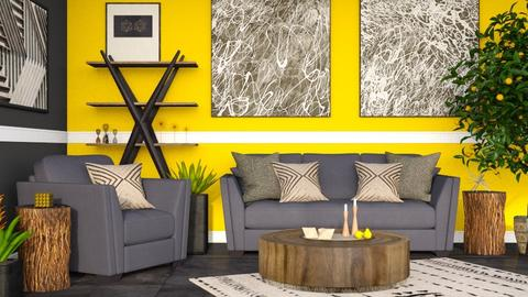 Lemon - Rustic - Living room  - by millerfam