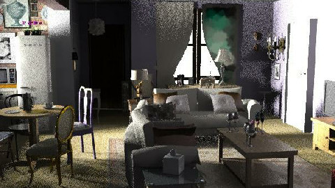 Monica's Apartment (Classic) - Eclectic - Living room  - by starryarryo