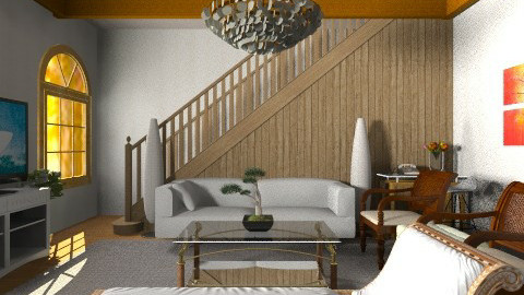 Vacation House LR - Vintage - Living room  - by ClaveriaCarla