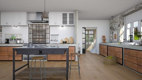 modern farm kitchen - by Lo89