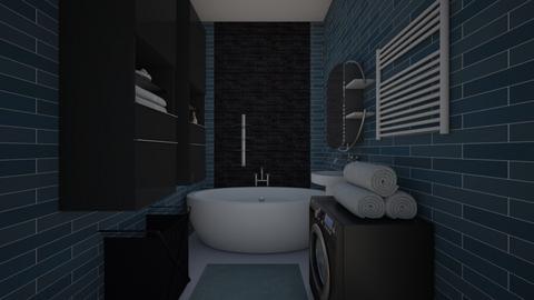 Blue Justine2 - Bathroom - by Marta Perkowska