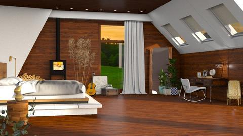 attic bed - Modern - Bedroom  - by RimaNina