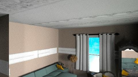 divano petrolio a muro - Eclectic - Kitchen  - by favaloro_bianca
