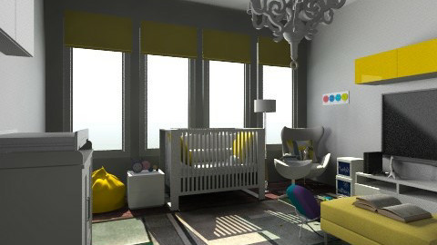 b - Modern - Kids room  - by nataliaMSG