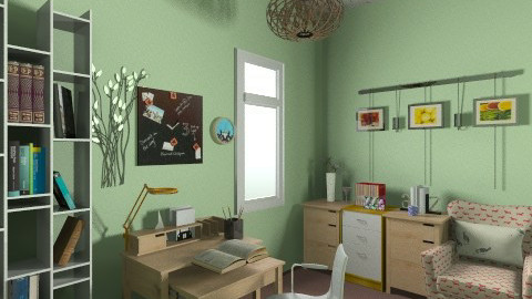 Peace home office 1 - Vintage - by SeVen Up_709