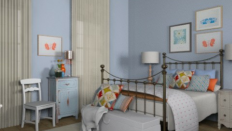 Bedroom for Katherine - Vintage - by jenshadow_222