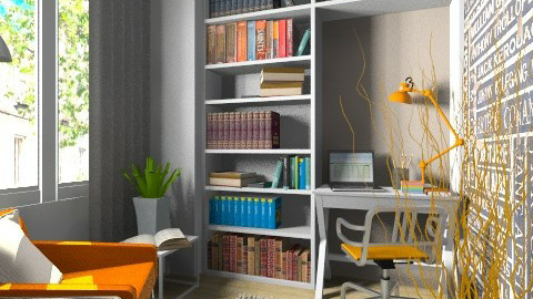 Small study - Modern - Office  - by Tuija