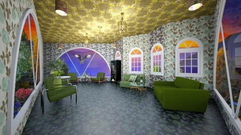 Greenest Room - Minimal - Garden  - by lori gilluly