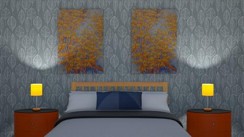 Orange and Blue - Bedroom - by natd