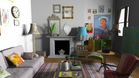 eclectic - Eclectic - Living room  - by rosiedoll