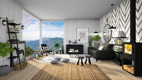 My Mountain - Living room  - by Ferplace