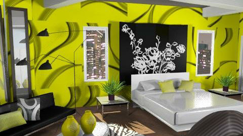 Gaga Gold - Eclectic - Bedroom  - by channing4
