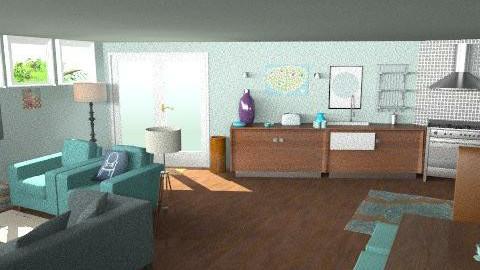 TiffanyBlue - Kitchen2 - Eclectic - Kitchen  - by camilla_saurus