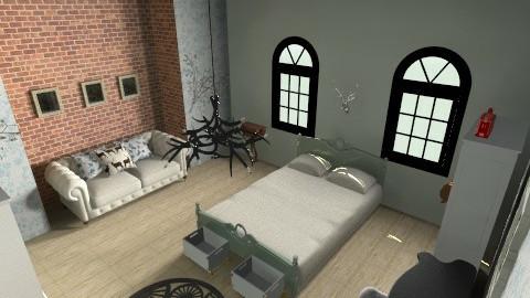Stag ROom - Vintage - Bedroom  - by Georgia Pele