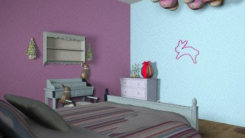 EASTER BUNNY ROOM - Rustic - Bedroom  - by gleelover99