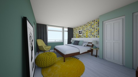 Bedroom redesign - Retro - Bedroom  - by Irene Klinkenberg