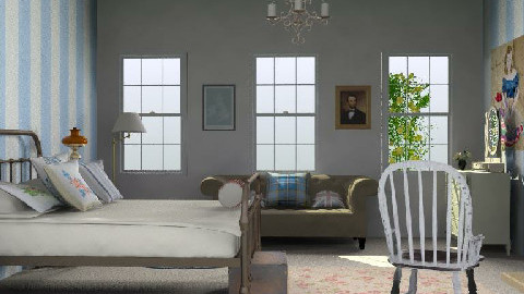 EnglishInspired - Country - Bedroom  - by yasemin04
