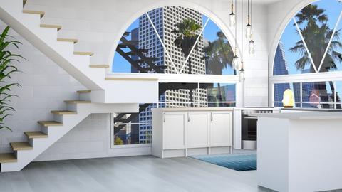 Minimalist White Kitchen - Minimal - Kitchen  - by kiwimelon711