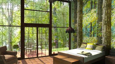 forest bedroom - Country - Bedroom  - by teen bedroom