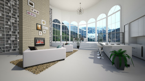 Living in a church - Modern - Living room  - by Keliann