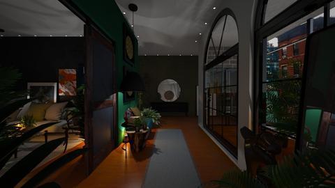 urban jungle hallway - by lais baptista