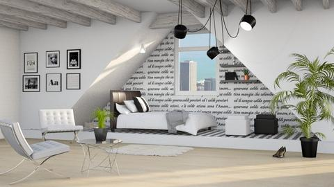 Attic Bedroom - Bedroom  - by ariema