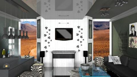 Music room - Modern - Living room  - by annabeth