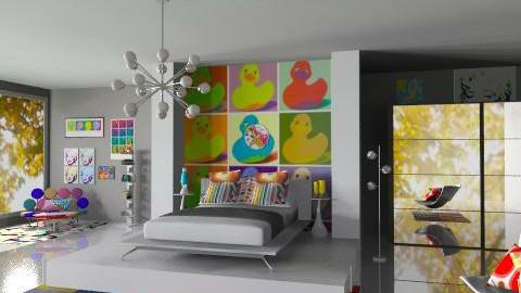 Pop Art Bedroom - Retro - Bedroom  - by idesine