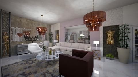 Living_Dinning_2_Interiors_ - Modern - Living room - by Nikos Tsokos