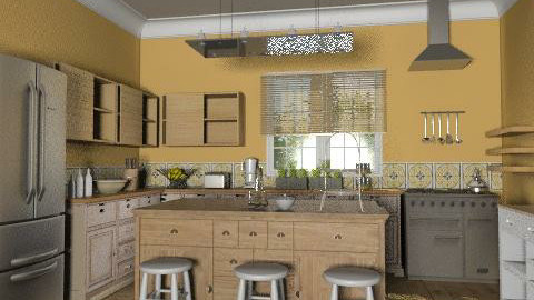 Town House: Kitchen - Rustic - Kitchen  - by reedj0218
