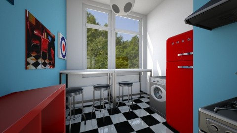Spinnekop Kitchen - Retro - Kitchen  - by shaihulud
