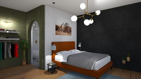 Bedroom Colours - Masculine - Bedroom  - by SunflowerStudios