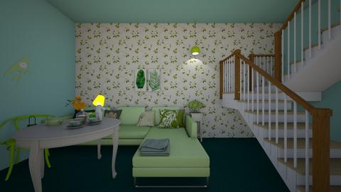 Green - Modern - Living room  - by tathianhduong2009