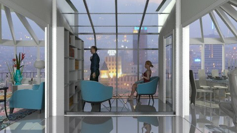 penthouse suite - Modern - Living room  - by auntiehelen