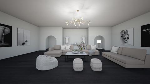 living room full of art - Glamour - Living room  - by sophiell