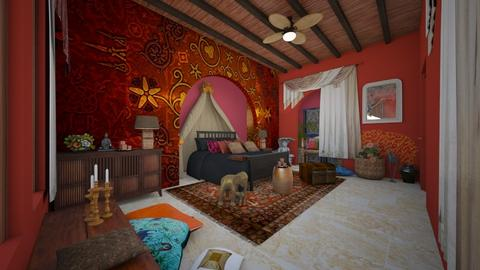 India Bedroom - by claudia secareanu