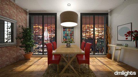 Toque red - Dining room - by DMLights-user-1101900