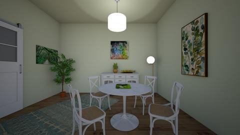 Green - Dining room - by sak2007