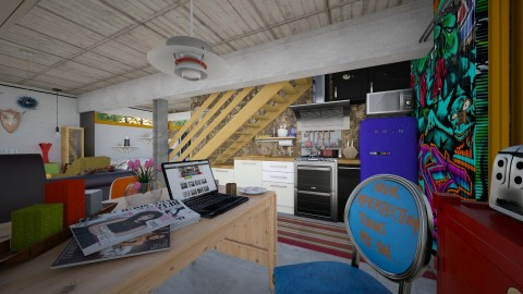 Basement Kitchen_1 - Eclectic - Kitchen  - by evahassing
