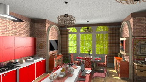 holiday in village - Modern - Kitchen  - by lamzoi
