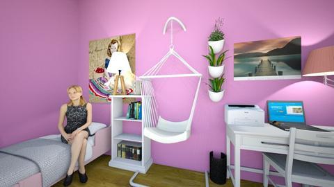girls bedroom - Bedroom  - by Rose_Design