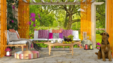 Sitting out - Garden  - by Liu Kovac