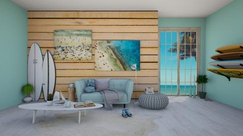 Beachy Vibes  - Living room - by T I A N A