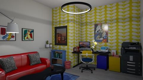 Bauhaus coloured Office - Modern - Office  - by mmt_regina_nox