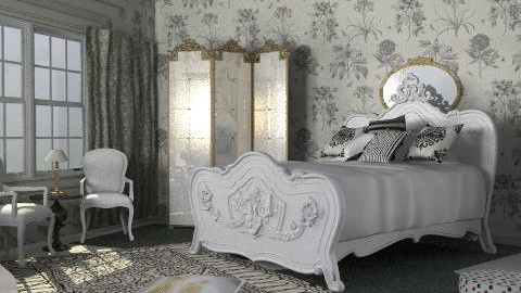 white and black - Classic - Bedroom  - by chania