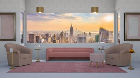 Rose Gold - Living room  - by designcat31